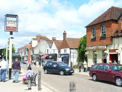 Image of the High Street in Cranleigh, where Lingard Jones provides Handyman Services