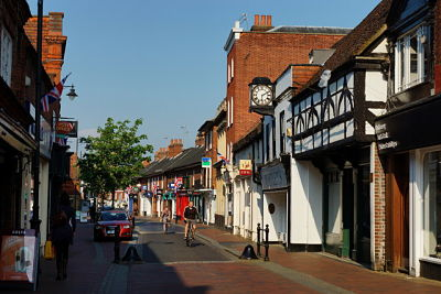 Image of the High Street in Godalming, where Lingard Jones provides Handyman Services