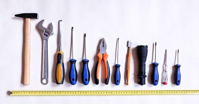 Selection of handyman tools